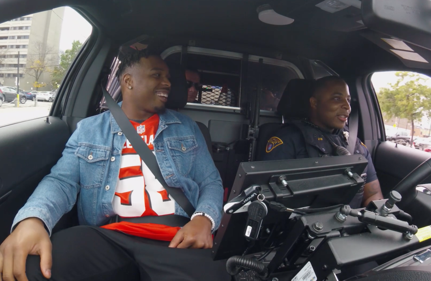 browns-players-ride-along-with-local-police-officers-and-visit-community-centers